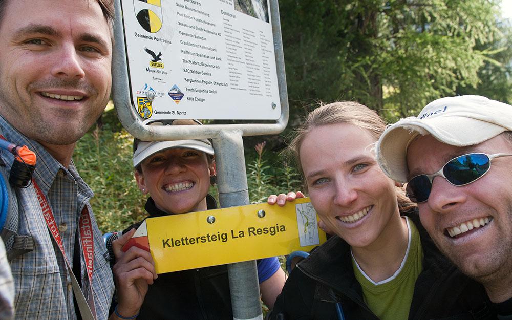 Klettersteig La Resgia : La via ferrata resgia ou klettersteig à pontresina